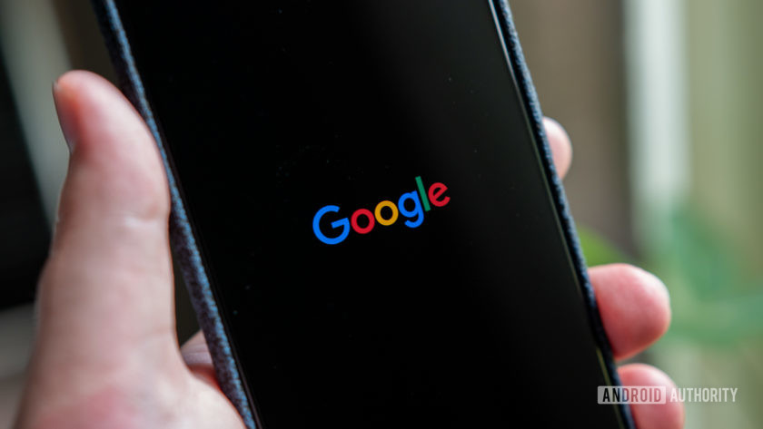 Google decade - logo on phone