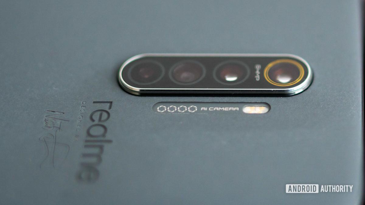 Realme X2 Pro Master Edition in Concrete camera closeup 1