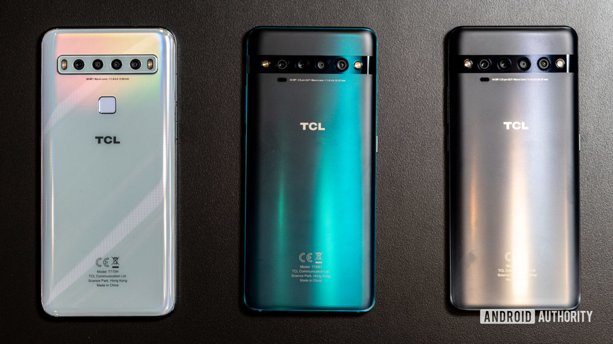 The TCL 10 series phones.