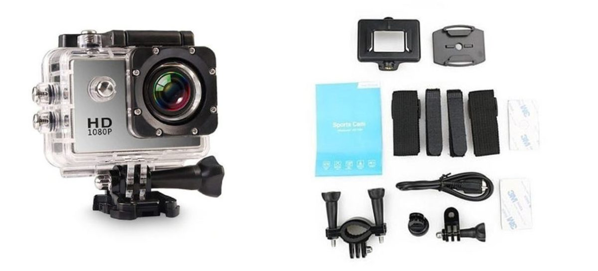 Electronic Avenue HD Waterproof Action Camera and Accessory Pack