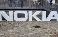 Nokia logo in white
