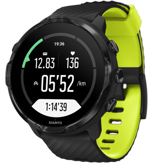 suunto 7 wear os smartwatch running screen