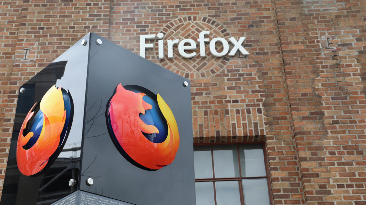 Firefox logo sign offices