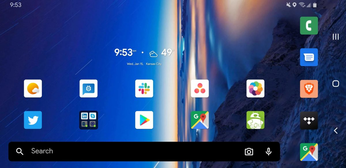 Microsoft Launcher 6.0 home page vertical