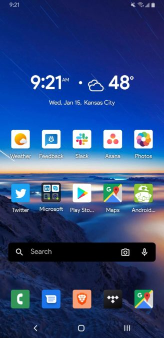Microsoft Launcher 6.0 home page 3
