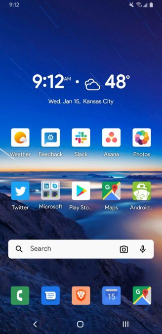 Microsoft Launcher 6.0 home page 1