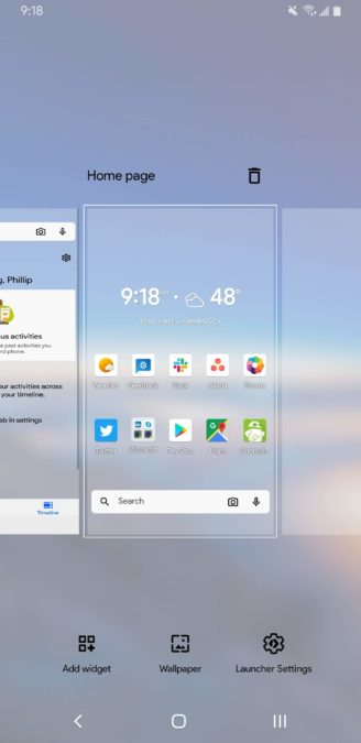 Microsoft Launcher 6.0 home page 2