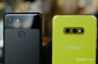Samsung Galaxy S10e vs Google Pixel 3 camera detail angle