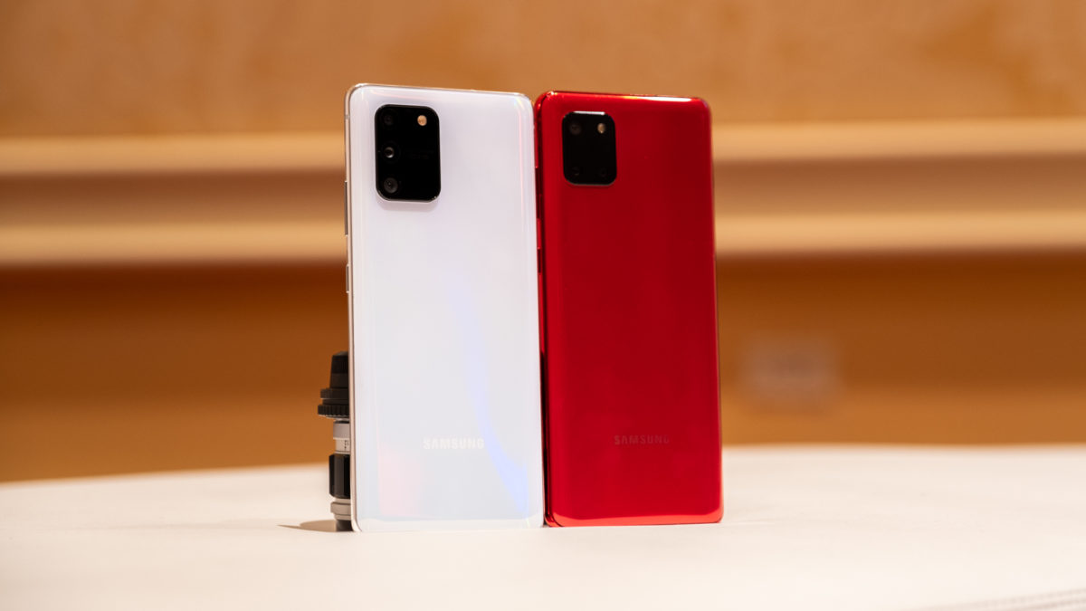 Samsung Galaxy S10 Lite and Note 10 Lite backs