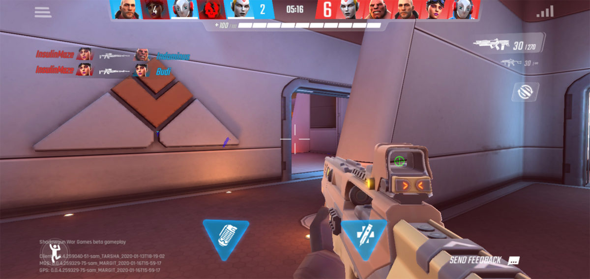 Shadowgun War Games in game UI