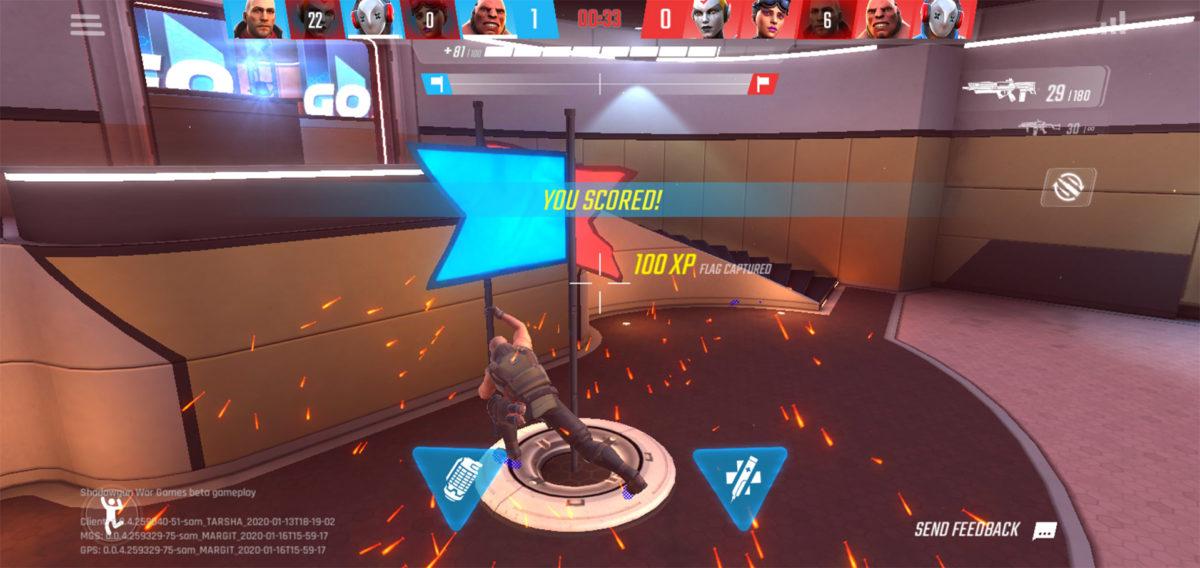 Shadowgun War Games capture the flag score