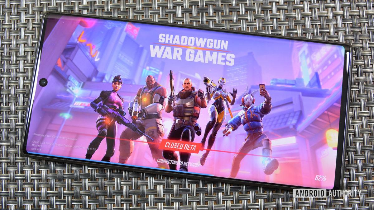 Shadowgun War Games title screen