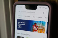 Picture of the redesigned Google Play Store on a Google Pixel 3 XL.