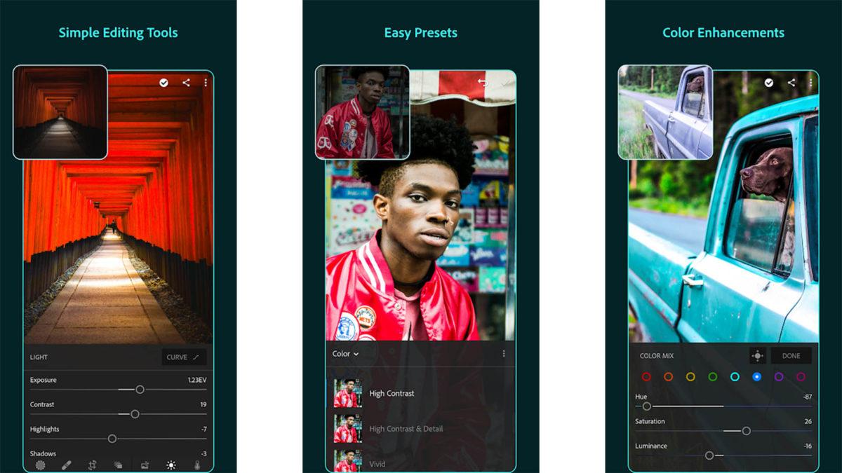 Adobe Lightroom screenshot 2019