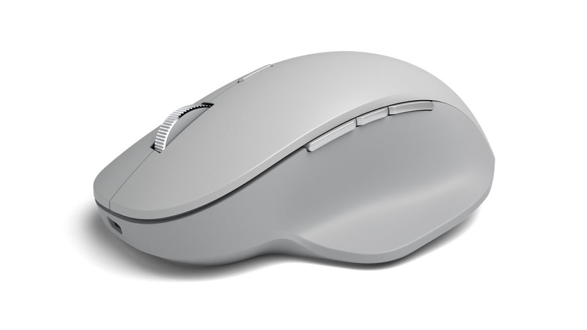 Micrososft Surface Precision Mouse on white background