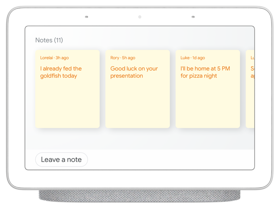 Googke Nest Hub sticky notes 3